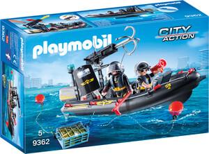 Playmobil Playmobil 9362 Bateau pneumatique et policiers d'élite 4008789093622