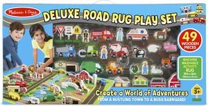 """Melissa & Doug Tapis de jeu routes de ville de luxe 39x36"""" avec véhicules, bâtiments, animaux, personnages et panneaux de signalisation Melissa & Doug 5195 000772151955"""