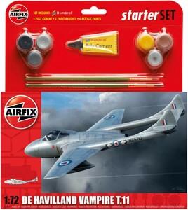 Airfix Modèle à coller avion De Havilland Vampire T11 1/72 5014429552045