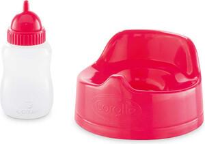 Corolle Corolle Mon bébé poupée classique ensemble pot et biberon cerise 36 / 42 cm 887961288223