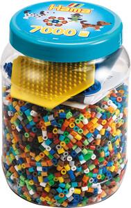 Acheter Hama Midi 7000 Perles Et Plaques Chienhexagonale En Pot