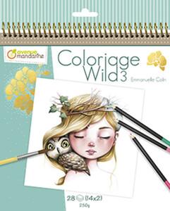 Avenue Mandarine Avenue Mandarine - Cahier De Coloriage Wild 3 3609510520779