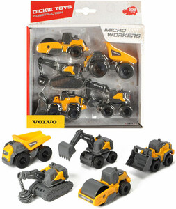 Dickie Toys Camion de micro travailleurs Volvo 9 cm 4006333060991