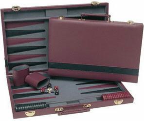 Wood Expressions Backgammon / jacquet 15 po de luxe et mallette 658956044151