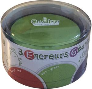 Créa Lign' Encreurs géants ronds 3# rouge-vert-violet 3760119710654