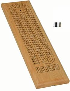 acheter crib planche 3 pistes classique en bois de ch ne 9 pions de m tal wood expressions. Black Bedroom Furniture Sets. Home Design Ideas