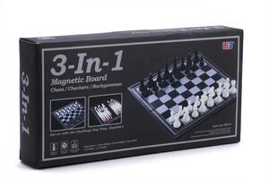 Jeu d'échecs, backgammon et dames pliant magnétique 4894060829475