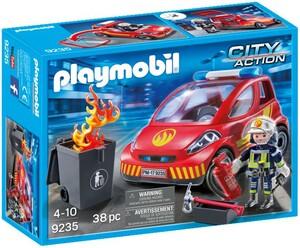 Playmobil Playmobil 9235 Pompier avec véhicule d'intervention 4008789092359