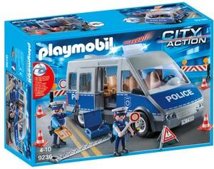 Playmobil Playmobil 9236 Fourgon de policiers avec matériel de barrage 4008789092366