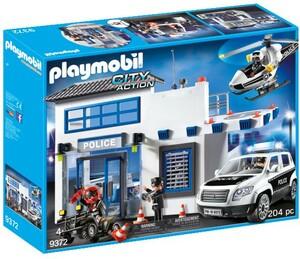 Playmobil Playmobil 9372 Poste de police et véhicules, voiture et hélicoptère 4008789093721