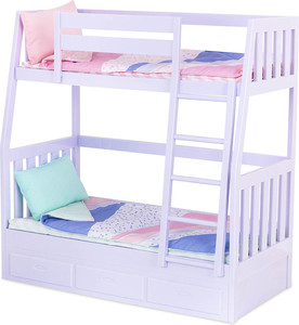 acheter lit superpos pour poup e our generation bunk bed sans poup e poup es our. Black Bedroom Furniture Sets. Home Design Ideas