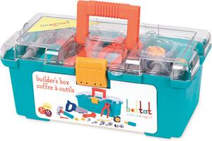 Battat Coffre d'outils, tournevis, marteau, pinces, scie, ruban à mesurer, clé à molette (Builders Box) 062243334489