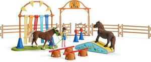 Schleich Schleich 42481 Entraînement d'agility pour poney 4055744029875