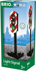 BRIO Train en bois BRIO Feux tricolores lumineux 7312350337433
