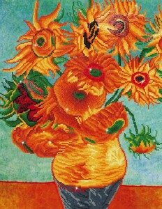 Diamond Dotz Broderie diamant Tournesols (Sunflowers) (Van Gogh) Diamond Dotz (Diamond Painting, peinture diamant) 4897073241067