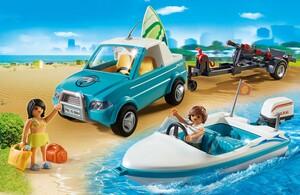 Playmobil Playmobil 6864 Voiture avec bateau et moteur submersible 4008789068644