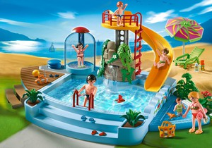 Acheter playmobil 4858 piscine avec glissade d 39 eau for Piscine playmobil jouet club