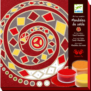 djeco sables colors mandalas 5 continents fren 3070900086357 - Sable Color Djeco