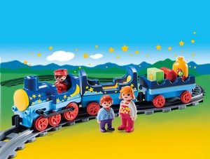 Playmobil Playmobil 6880 1.2.3 Train étoilé avec passagers et rails 4008789068804