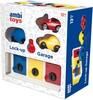 ambi toys Garage avec serrures, clé et 3 voitures 5011979567888