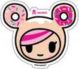tokidoki autocollant Donutella face 818310029150
