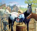 SunsOut Casse-tête 1000 Enfant qui peinture un cheval et relie les points (Connect the Dots) SunsOut 36044 796780360440