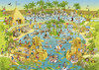 Heye Casse-tête 1000  Marino Degano - habitat du Nil 4001689296933