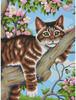 """Dimensions PaintWorks Peinture à numéro Chat paresseux sur une branche 9x12"""" 91478 088677914783"""