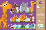 Djeco Casse-tête 10 duo petits et grands animaux (fr/en) 3070900081673