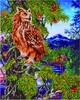 Diamond Dotz Broderie diamant Hibou dans l'arbre au crépuscule (Twilight Wisdom) Diamond Dotz (Diamond Painting, peinture diamant) 4897073243795