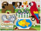 Melissa & Doug Casse-tête grosses pièces animaux de compagnie en bois Melissa & Doug 1890 000772118903
