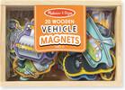 Melissa & Doug Boîte de 20 aimants véhicules en bois Melissa & Doug 8588 000772085885
