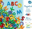 Djeco Lettres magnétiques minuscules, 83 (fr/en) 3070900031012