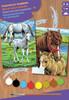 Sequin Peinture à numéro Peinture à numéro junior ensemble de 2 chevaux 5013634002154