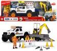Dickie Toys Playlife - Ensemble construction avec remorque sons et lumières 41cm 4006333061325