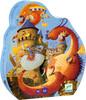 Djeco Casse-tête 54 Vaillant et les dragons (fr/en) 3070900072565