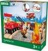 BRIO Train en bois BRIO Circuit pompier lutte contre le feu BRIO 33815 7312350338157