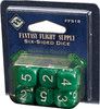 Fantasy Flight Games Dés d6 marbre vert avec chiffres blancs (6 x d6) 9781589948464