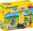 Playmobil Playmobil 70165 1.2.3 Grue de chantier 4008789701657