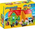 Playmobil Playmobil 6962 1.2.3 Ferme transportable avec animaux 4008789069627