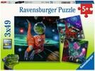 Ravensburger Casse-tête 49x3 Dinosaures dans l'espace 4005556051274