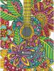"""Dimensions PaintWorks Dessin à numéros guitare en fleurs 9x12"""" 91537"""