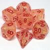 Metallic Dice Games Dés d&d 7pc flash rougeâtres avec chiffres rouges (d4, d6, d8, 2 x d10, d12, d20) 680599383861
