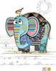 Bug Art Carte fête Kooks éléphant sans texte 5033678640204