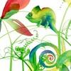 Maxou & Bizou Carte fête - Carlito le caméléon 754083370146