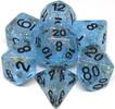 Metallic Dice Games Dés d&d 7pc flash bleutés avec chiffres noirs (d4, d6, d8, 2 x d10, d12, d20) 680599383878