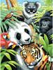 """Dimensions PaintWorks Dessin à numéros panda et animaux de la jungle 9x12"""" 91472 088677914721"""