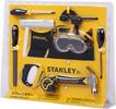 Stanley Jr. Stanley Jr. Ensemble de 10 outils pour enfants, ceinture porte-outils, tournevis Phillips no.1 et no.2, marteau, gallon à mesurer, serre-joint, lime, scie à main, règle, lunettes de protection 878834003319