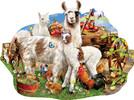 SunsOut Casse-tête 1000 silhouette Ferme des lamas (Llama Farm) SunsOut 95077 796780950771