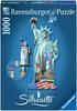 Ravensburger Casse-tête 1000 silhouette Statue de la Liberté, New York, États-Unis 4005556161515